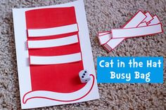A fun printable math activity for Dr. Seuss with two variations one for counting, one for number identification.
