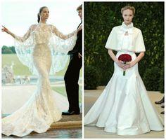 Il mantello da sposa...