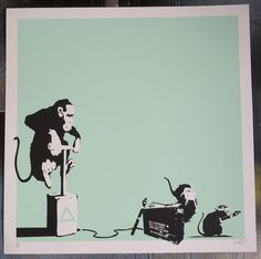 IT S GONNA HURT SIGNED & NUMBERED SCREENPRINT - BANKSY? DISMALAND, OUTIS