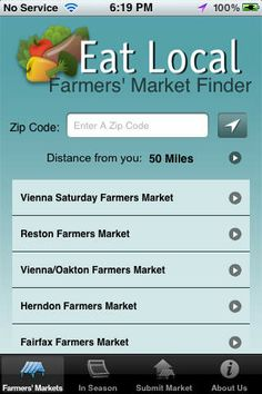 Eat Local Farmers' Market Finder