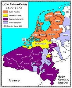 The Lowe Countries, European Map, European History, World History, American History, Old World Maps, Old Maps, History Timeline, History Facts, Holland Map