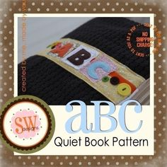 PATTERN for ABC Activity Book  all 26 letters  por shelleywallace, $21.50