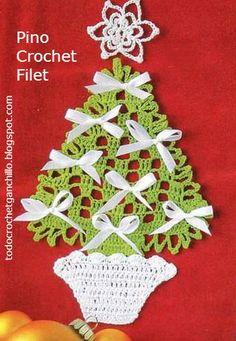 Arbolito de Navidad para tejer al crochet   Todo crochet