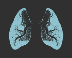 Crop Top Urban X-Ray Lungs Shirt in Black