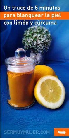 Un truco de 5 minutos para blanquear la piel con limón y cúrcuma #blanquear #quitarmanchas #piel #mascarilla #belleza
