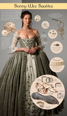 Terry Dresbach stitches to life the magnificent clothing for the characters of Diana Gabaldon's beloved Outlander! Diana Gabaldon Outlander Series, Outlander Book Series, Outlander Quotes, 18th Century Fashion, 18th Century Dress, Historical Costume, Historical Clothing, Historical Romance, Claire Outlander
