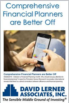 The report revealed that 19 percent of American households are comprehensive planners, 38 percent are basic planners, 33 percent are limited planners, and just 10 percent do no financial planning at all.