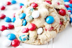 Get your cookie fix in just minutes with these super-soft, melt-in-your-mouth brown sugar cookies, studded with M&M's! Sunnysideups.org