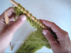 DROPS Knitting Tutorial: How to cast on new stitches at an edge.