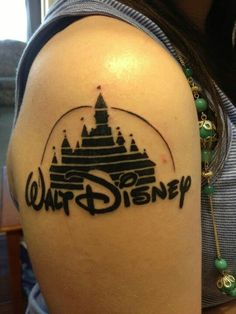 What does disney castle tattoo mean? We have disney castle tattoo ideas, designs, symbolism and we explain the meaning behind the tattoo. Disney Sleeve Tattoos, Disney Tattoos, Disney Inspired Tattoos, Disney Castle Tattoo, Black White Tattoos, Real Tattoo, Disney Facts, Cool Tattoos, Amazing Tattoos