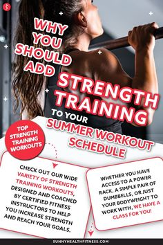 The summer is the perfect time to start a new strength training routine. Build out your perfect summer workout schedule with our top tips and workouts to start building strength today. #sunnyhealthfitness #strengthtraining #summerworkout #summerworkoutschedule #strengthtrainingschedule #strength #strengthworkout Training Schedule, Strength Training Workouts, Health And Fitness Articles, Health Fitness, Summer Workout Schedule, Different Exercises, Muscle Groups, Workout Programs, Fun Workouts