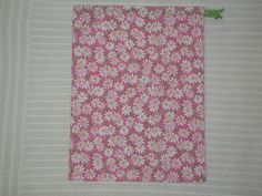 Medium Pink Daisies Wrapping Bag with green drawstring by CrazyAuntBettyBags on Etsy