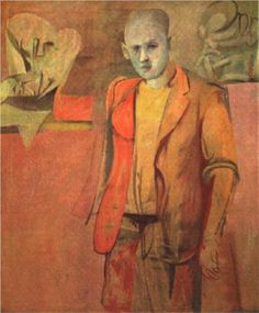 Willem de Kooning (Dutch American 1904–1997) [Abstract Expressionism] Standing Man.