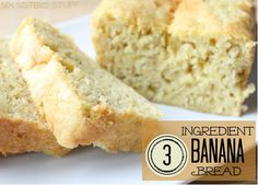 Have left over bananas? This 3 ingredient banana bread is my favorite way to use them! From http://Sixsistersstuff.com