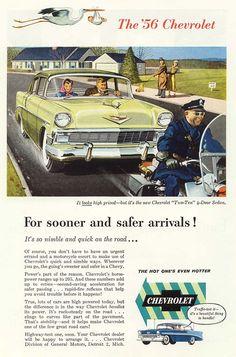"1956 Chev 210 ""Sooner and safer"""