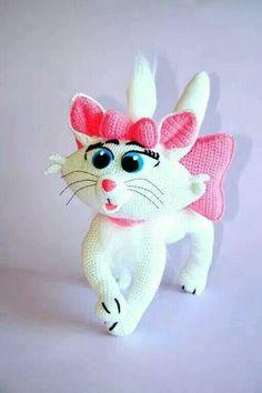 Crocheters Anonymous: Crochet Marie Cat Pattern: http://shrsl.com/?~622g    #crochet #amigurumi #pattern