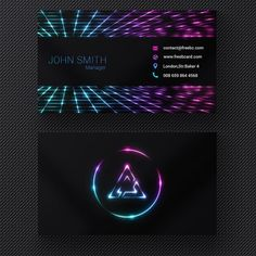 Laser Line Business Card Business Cards Layout, Business Card Logo, Business Card Design, Modern Business Cards, Creative Card, Letterhead Design, Branding Design, Photoshop, Corporate Website Design