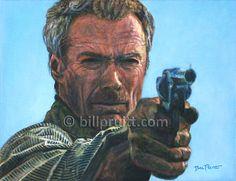 ORIGINAL oil painting Clint Eastwood Unforgiven by billpruittart #ClintEastwood #ClintUnforgiven