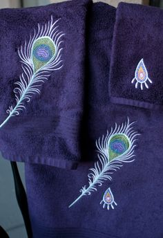 Towel Set: Peacock feather