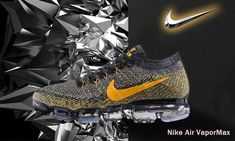 check out 4c0f5 dce55 NIKE MAX AIR 2018 VAPORMAX FLYKNIT Gold Black Women Men Shoes Nike Air Max  Running,