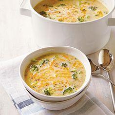 Broccoli-Cheddar Soup | MyRecipes.com