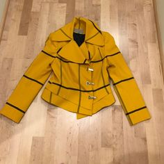 Beautiful yellow checked blazer In perfect condition. Very FENDI-esque eun rauschenberg Jackets & Coats Blazers
