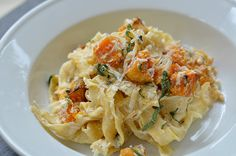 Pappardelle with Roasted Butternut Squash and Ricotta--Three Many Cooks