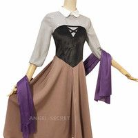 Aurora briar rose costume cosplay princess dress sleeping beauty Cos