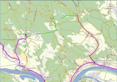 Kiralyret tura terkep.Túra útvonal: (zöld gyalog, piros kisvasút) Map, Location Map, Maps