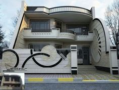 The exterior is the face of the house that everyone will see in the first part. Take a look at the world's most beautiful modern homes and find House Main Gates Design, House Outside Design, Unique House Design, Bungalow House Design, House Design Photos, House Front Design, Small House Exteriors, Modern House Facades, Dream House Plans
