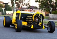 This driveable LEGO hotrod was built from 500,000 pieces and runs entirely on air