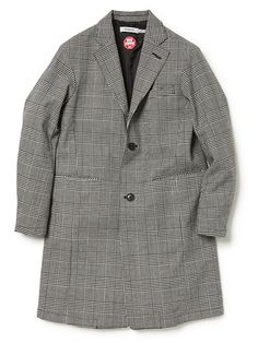 Nonnative / OFFICER COAT WOOL GREN CHECK WITH WINDSTOPPER®