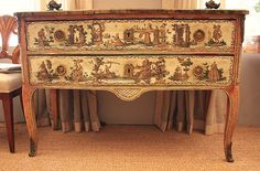 18th Century Italian Painted Chest     Nick Brock Antiques - Current Inventory: