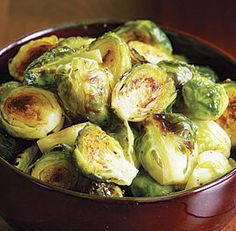 Basic Roasted Brussels Sprouts-- straight up with olive oil -- delicious!