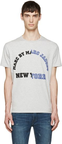 Marc by Marc Jacobs - Grey Varsity Logo T-Shirt