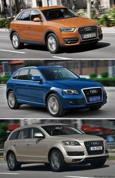 audi q3 vs q5 q7 800 1501 sweet rides pinterest. Black Bedroom Furniture Sets. Home Design Ideas