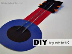 This simple paper craft is a way for kids to learn about instruments from Kids Activities Blog.