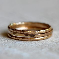 14k gold stacking rings - praxis jewelry