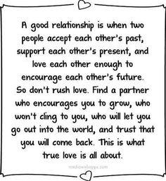 Don't rush love. It's worth the wait.