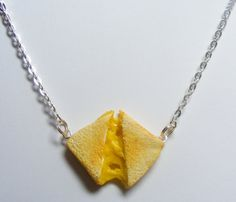 Grilled Cheese Miniature Food Necklace - Miniature Food Jewelry,Handmade Jewelry Necklace Pendant