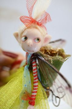 ooak poseable bright spring PIXIE fairy  16  by DinkyDarlings