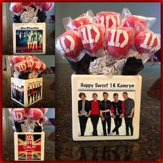 One Direction Cake Pops.  Cake pops are always an option especially at an outdoor summer party...