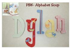 Wall letters matching nursery decor