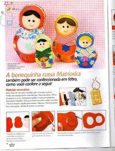 Here are some instructions on how to make a family of absolutely adorable felt Matryoshka dolls, also known as Russian nesting dolls. Matryoshka Doll, Kokeshi Dolls, Felt Diy, Felt Crafts, Kawaii Felt, Sewing Crafts, Sewing Projects, Felt Bunny, Thinking Day