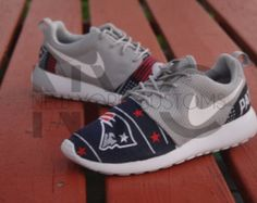 Nike Roshe Run Grey White New England Patriots V5 Edition