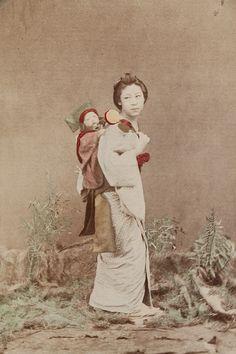 Mother and Child  Artist: Kusakabe Kimbei  Artist Bio: Japanese, 1841 - 1934  Creation Date: c. 1890s