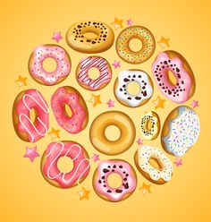 Doughnut with stars vector material 02 - https://www.welovesolo.com/doughnut-with-stars-vector-material-02/?utm_source=PN&utm_medium=welovesolo59%40gmail.com&utm_campaign=SNAP%2Bfrom%2BWeLoveSoLo