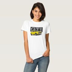 The first Hot Hatch VW Golf GTI T-shirts.