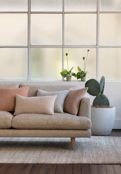 The Felix Sofa upholstered in the Nirvana Collection by Mokum Textiles.  Manufactured to order in Australia and available in a variety of sizes.