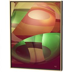 Menaul Fine Art Groovy Limited Edition Framed Canvas Scott J. Menaul Special Features: Primary color: orange Secondary color: green Great for a bedroom, living room and more Canvas giclee Consists of interesting patterns created by glas Artist Canvas, Canvas Art, Canvas Prints, Contemporary Frames, Fall Mantel Decorations, Canvas Frame, Canvas Size, Painting Techniques, Online Art Gallery